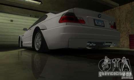 BMW M3 Tuneable для GTA San Andreas вид снизу