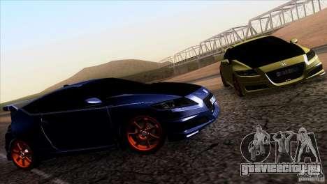 Honda CR-Z Mugen 2011 V1.0 для GTA San Andreas вид сзади слева
