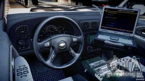 Chevrolet Trailblazer Police V1.5PD [ELS] для GTA 4 вид справа