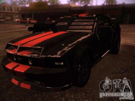 Ford Mustang Shelby GT500 для GTA San Andreas вид слева