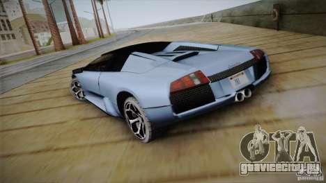 Lamborghini Murcielago Roadster для GTA San Andreas вид сзади слева