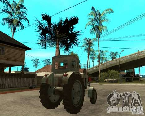 Трактор Т-40М для GTA San Andreas вид сзади слева