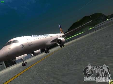 Embraer ERJ 190 Lufthansa Regional для GTA San Andreas вид изнутри