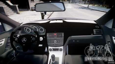 Mercedes-Benz C180 CGi Classic Special 2009 для GTA 4 вид сверху