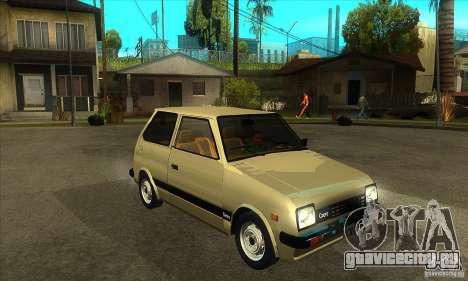 Daihatsu Cuore 1981 для GTA San Andreas вид сзади