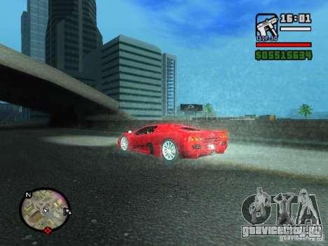 SSC Ultimate Aero для GTA San Andreas вид сзади слева