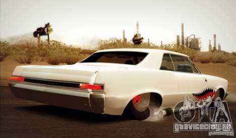 Pontiac GTO Drag Shark для GTA San Andreas вид слева