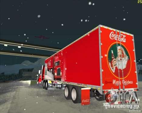 Прицеп для Coca Cola Trailer для GTA San Andreas вид сзади слева
