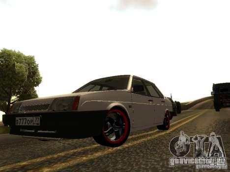 ВАЗ 21099 v.2 для GTA San Andreas вид слева