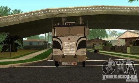 Peterbilt 362 Cabover для GTA San Andreas вид сзади