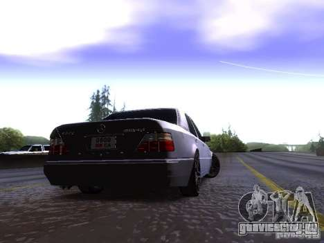Mercedes-Benz E500 W124 для GTA San Andreas вид сзади