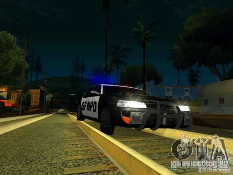 San-Fierro Sultan Copcar для GTA San Andreas вид изнутри