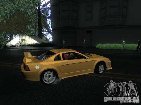 Ford Mustang SVT Cobra для GTA San Andreas вид сзади слева
