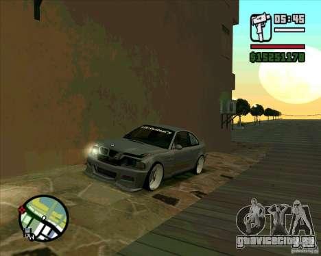 BMW E46 M3 Sport для GTA San Andreas вид сзади слева
