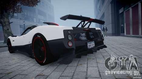 Pagani Zonda Cinque Roadster для GTA 4 вид сзади слева