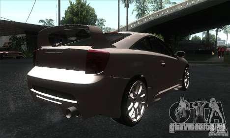 Toyota Celica-SS2 Tuning v1.1 для GTA San Andreas вид сзади слева