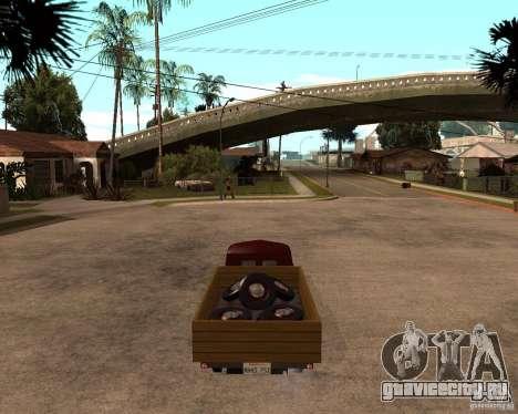 ГАЗ M-20 Победа PickUp для GTA San Andreas вид сзади слева
