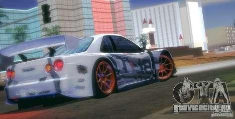 Nissan Skyline Touring R34 Blitz для GTA San Andreas вид сверху