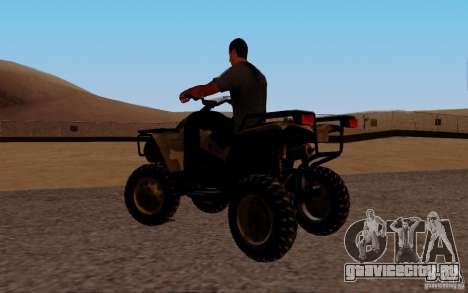 Quadbike from BF 3 для GTA San Andreas вид слева