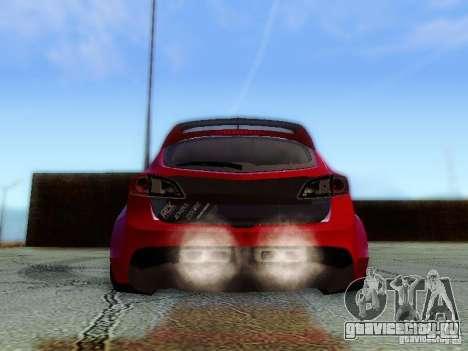 Mazda Speed 3 2010 для GTA San Andreas вид изнутри