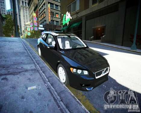 Volvo C30 2009 для GTA 4 вид сзади