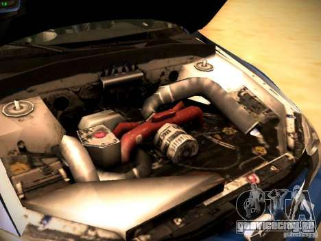 Subaru impreza Tarmac Rally для GTA San Andreas вид изнутри