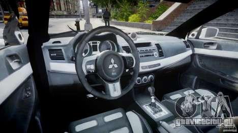 Mitsubishi Evolution X Police Car [ELS] для GTA 4 вид справа