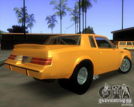 Buick GNX pro stock для GTA San Andreas вид слева