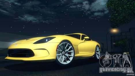 Dodge SRT Viper GTS 2012 V1.0 для GTA San Andreas вид изнутри