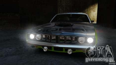 Plymouth Cuda 1971 [EPM] Mopar для GTA 4 вид изнутри