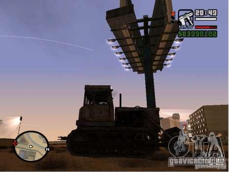 Bulldozer T 130 для GTA San Andreas вид сзади слева