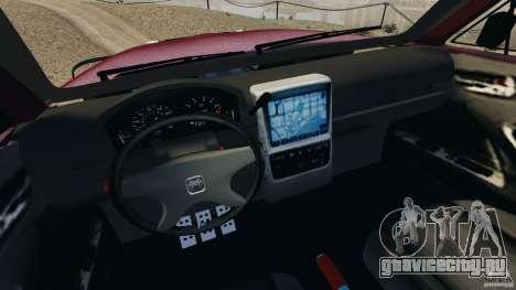 Dodge Ram 2500 Army 1994 v1.1 для GTA 4 вид изнутри