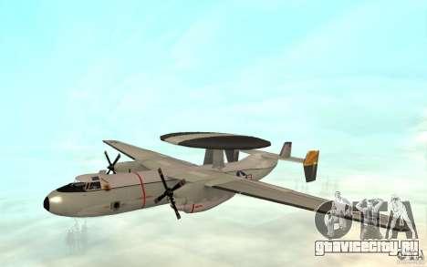 E-C2 Hawkeye для GTA San Andreas вид слева