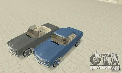 Mercedes-Benz 280SL (матовый) для GTA San Andreas вид снизу