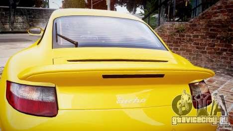 Porsche 911 (997) Turbo v1.0 для GTA 4 вид сбоку