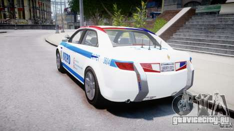 Carbon Motors E7 Concept Interceptor NYPD [ELS] для GTA 4 вид сбоку