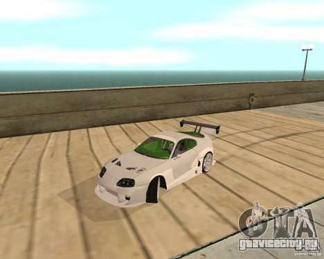 Toyota Supra TwinTurbo для GTA San Andreas вид сзади слева