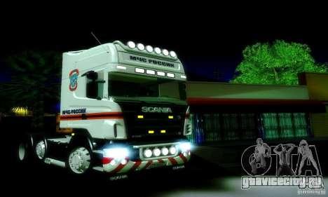 Scania R620 МЧС России для GTA San Andreas вид слева