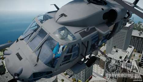 HH-60G Pavehawk для GTA 4 вид сзади слева