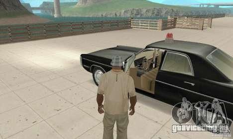 Plymouth Fury III Police для GTA San Andreas вид сзади
