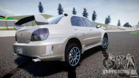 Subaru Impreza STI Wide Body для GTA 4 вид сзади слева