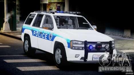 Chevrolet Trailblazer Police V1.5PD [ELS] для GTA 4 вид сзади