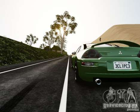 Mitsubishi Eclipse GT-S для GTA 4 вид сзади слева