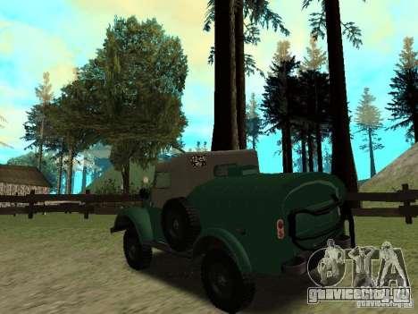 ГАЗ 69 АПА 12 для GTA San Andreas вид сзади слева