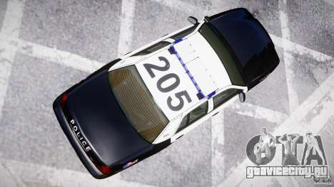 Ford Crown Victoria Massachusetts Police [ELS] для GTA 4 вид сбоку