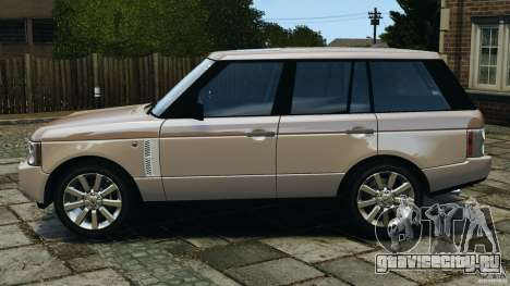Range Rover Supercharged 2008 для GTA 4 вид слева
