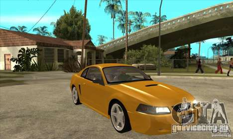 Ford Mustang GT 1999 - Stock для GTA San Andreas вид сзади