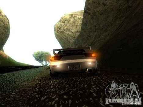 Mazda RX-7 TypeR для GTA San Andreas вид сзади