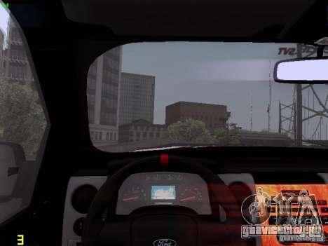 Ford Raptor Royal Canadian Mountain Police для GTA San Andreas вид сверху