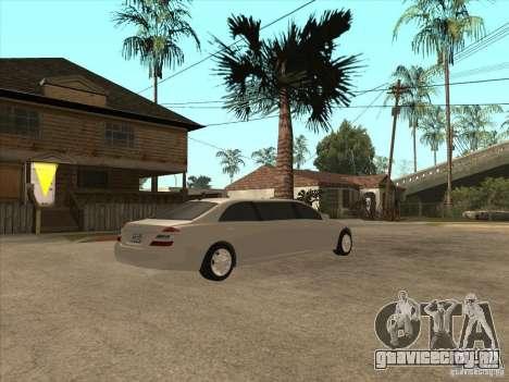 Mercedes-Benz Pullman (w221) SE для GTA San Andreas вид сзади